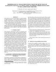 morphological image processing for echo detection on ... - eurasip