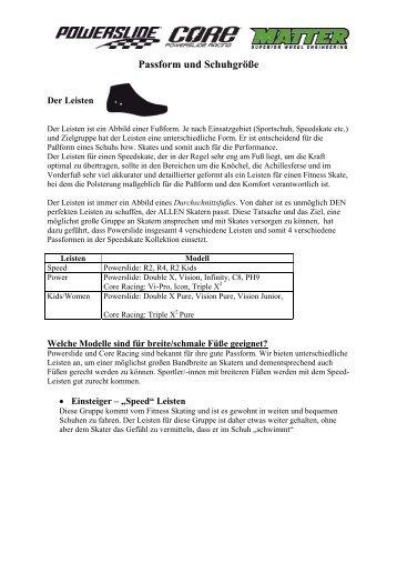 Passform und Schuhgröße
