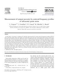 Measurement of cement porosity by centroid frequency ... - GTS - UPV