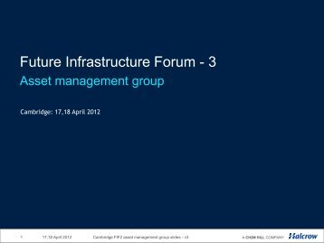 David Pocock - Future Infrastructure Forum