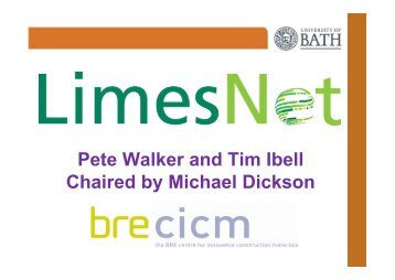 Pete Walker and Tim Ibell Chaired by Michael Dickson