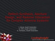 Pattern Synthesis, Aperture Design, and Radome Interaction for ...