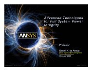 Advanced Techniques for Full System Power Integrity - Ansys