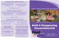 Pond-Free Waterfall Components Handout