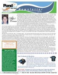 July Newsletter - Pond Pro Shop Water Garden Store