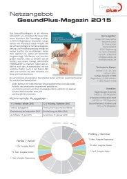 Netzangebot GesundPlus-Magazin 2015