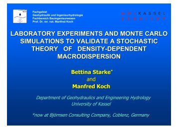 laboratory experiments and monte carlo simulations to validate a ...