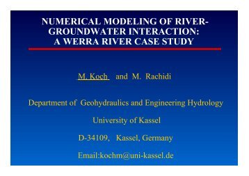 NUMERICAL MODELING OF RIVER- GROUNDWATER ...