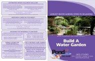 Water Garden Components Handout