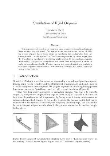 Simulation of Rigid Origami