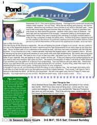 September 2011 Newsletter for the web