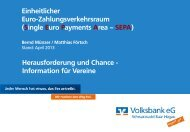 Sepa-Vortrag für Vereine - Volksbank eG