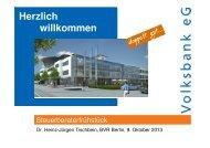 Vortrag von Dr. Tischbein - Volksbank eG