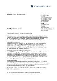 Direkt-Depot - Fondsbroker