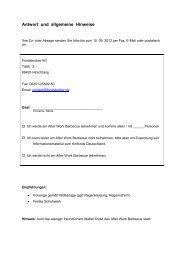 Antwort und allgemeine Hinweise - Fondsbroker