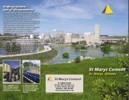 St. Marys Plant Brochure - St Marys Cement