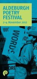 TPT Programme 2012 - The Poetry Trust