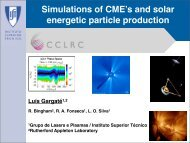 Simulations of CME's and solar energetic particle production - Mini ...