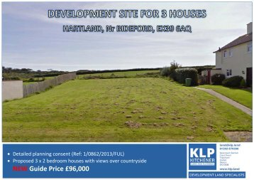 DEVELOPMENT SITE FOR THREE HOUSES, HARTLAND