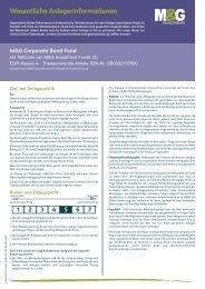 Wesentliche Anlegerinformationen - Fondsbroker