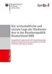 den in der Bundesrepublik Deutschland 2000 - Sozialerhebung