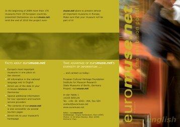 museum leaflet - DIN lang - ENGLISH (PDF) - Euromuse.net