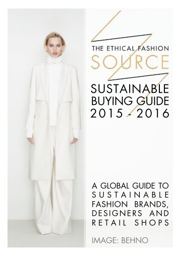 Sustainable Buying Guide 15-16