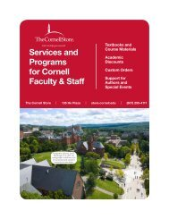 Services and Programs for Cornell Faculty & Staff - The Cornell Store