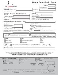 Generic PDF FORM - The Cornell Store - Cornell University