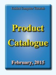 Download Product Catalogue, Feb 2013 - Guided Computer Tutorials