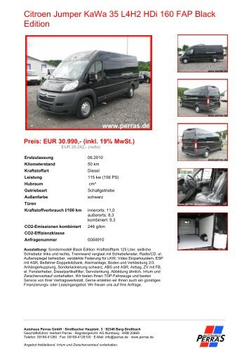 Preis: EUR 30.990,- (inkl. 19% MwSt.) - Autohaus Perras