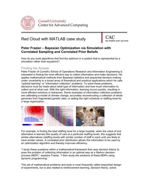 performing Bayesian optimization via simulation - Cornell University