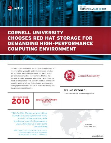 Red Hat Innovation Award - Cornell University Centre for Advanced ...