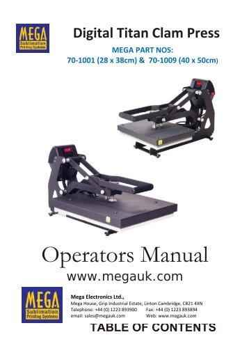 Data Sheet 70-1001 & 1009 Titan Clam Press ... - Mega Electronics