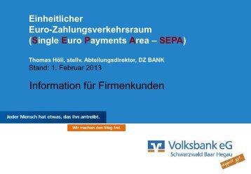 Sepa-Vortrag für Firmen - Volksbank eG