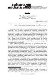Resenha Cibercultura e pós-humanismo - CCHLA