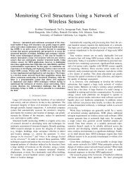 Monitoring Civil Structures Using a Network of Wireless Sensors