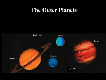 The Outer Planets - Ann Arbor Earth Science