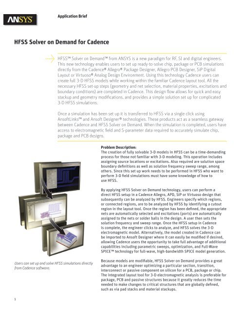 HFSS Solver on Demand for Cadence - Ansys