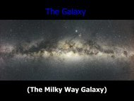 The Galaxy - Ann Arbor Earth Science