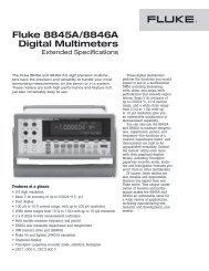 Fluke 8845A/8846A Digital Multimeters