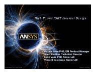 High Power IGBT Inverter Design - Ansys