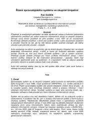 Řízení zpravodajského systému ve skupině Unipetrol - INSOURCE ...
