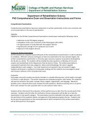 PhD Comprehensive Exam and Dissertation Instructions and Forms