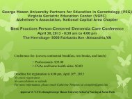 George Mason University Partners for Education in Gerontology ...