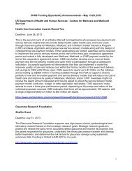 CHHS Funding Opportunity Announcements – May 13-20, 2013 US ...