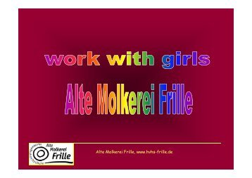 Work with girls in Frille – Germany - WordPress.com