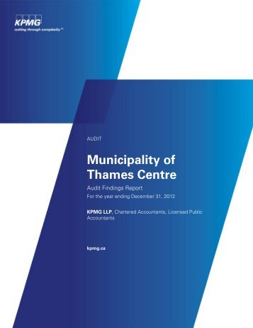 Audit Findings Report - Municipality Of Thames Centre