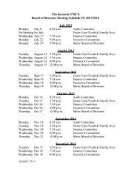 The Sarasota YMCA Board of Directors Meeting Schedule FY 2013 ...