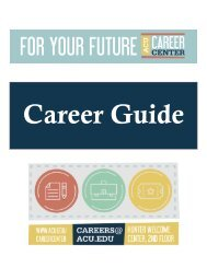 Four Year Career Plan Guide